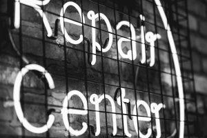 repair centre signage