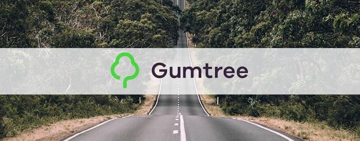 Gumtree logo over Australian road