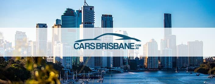 cars brisbane logo over brisbane city skyline