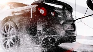 Nissan GTR Being Washed - Cars Brisbane