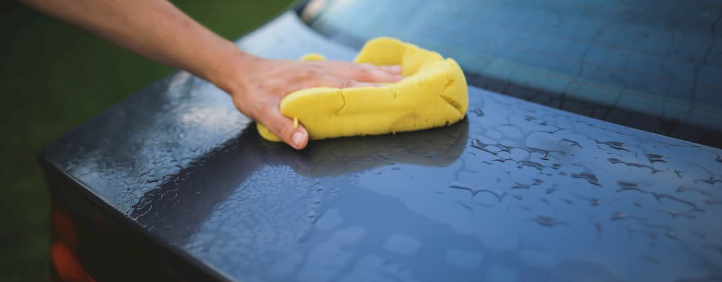 Sponge washing car